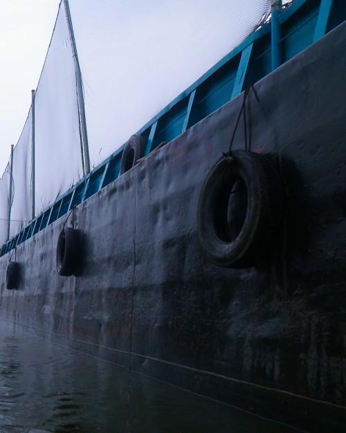 Black barge