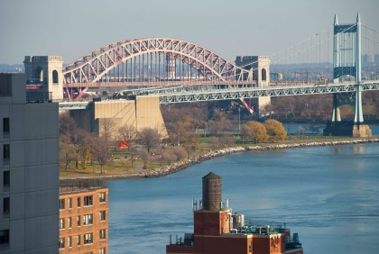 Pink Hell Gate Bridge
