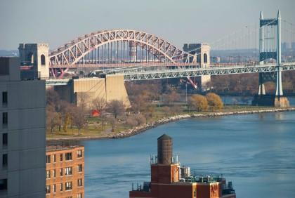 Pink Hell Gate Bridge