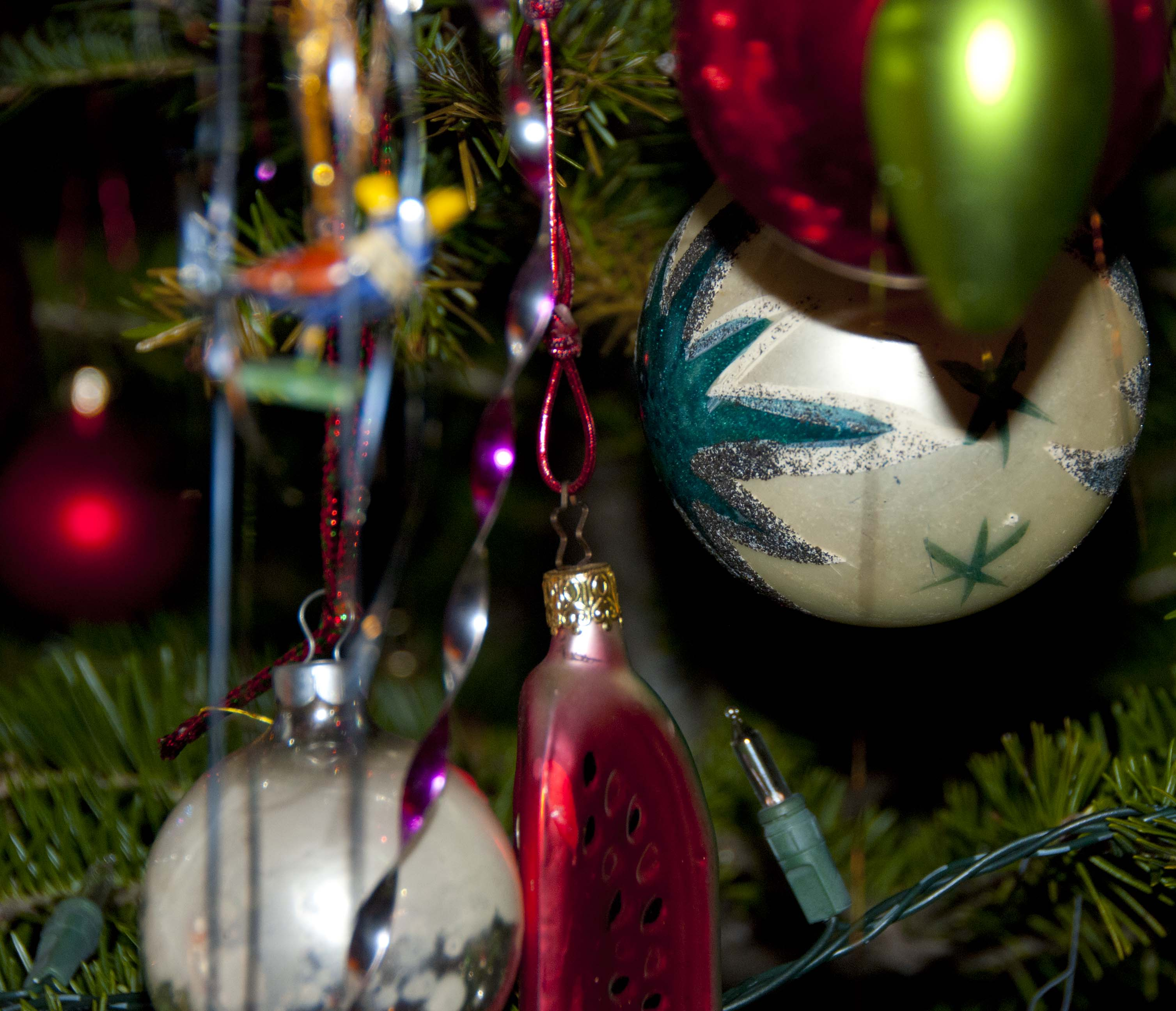 Camping christmas tree ornaments - Candlelight