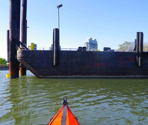 Our favorite barge off Randall's Island
