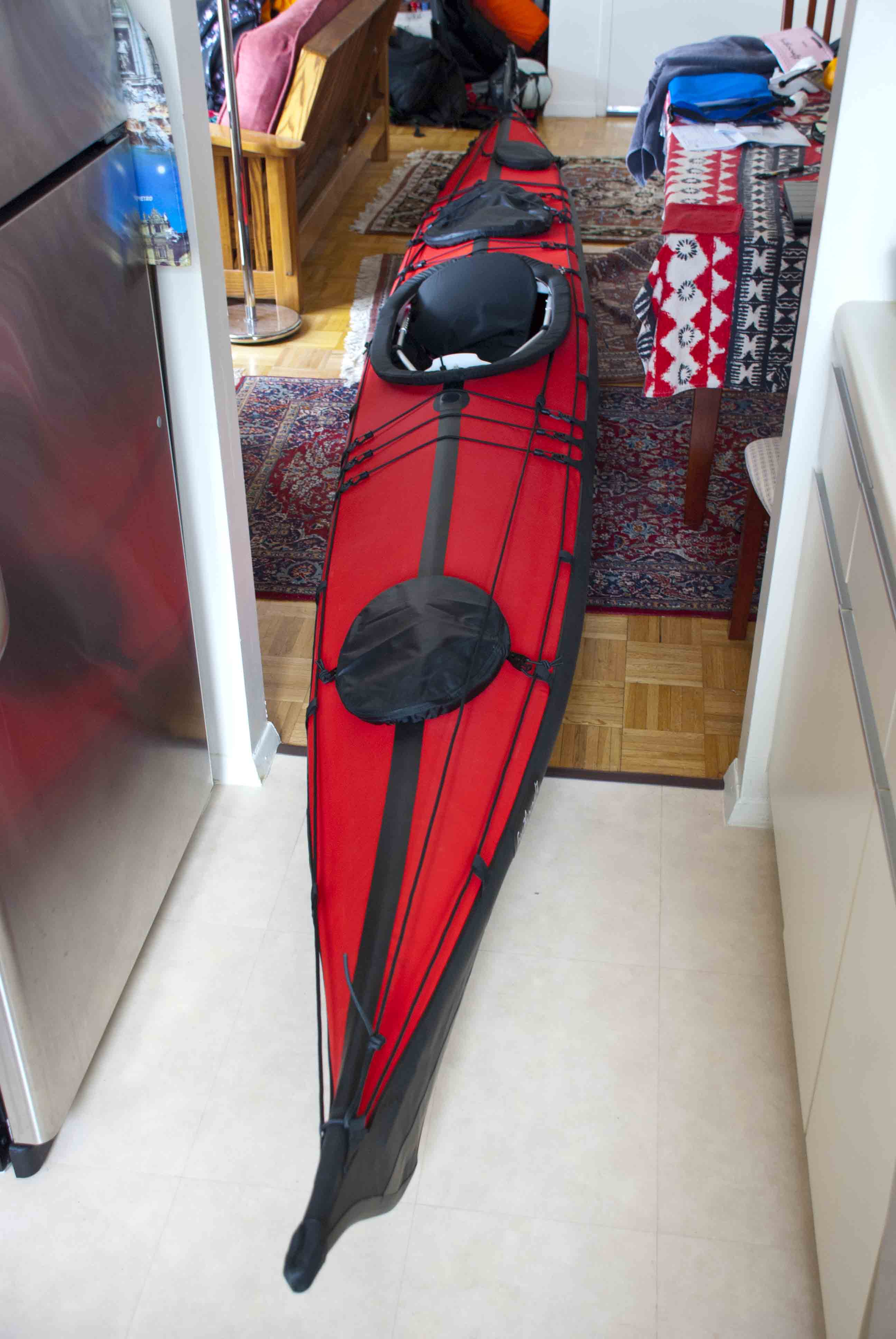 The kayak on the 17th floor wind against current for 180 water street 17th floor