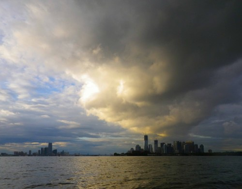 Sinister cloud over Manhattan