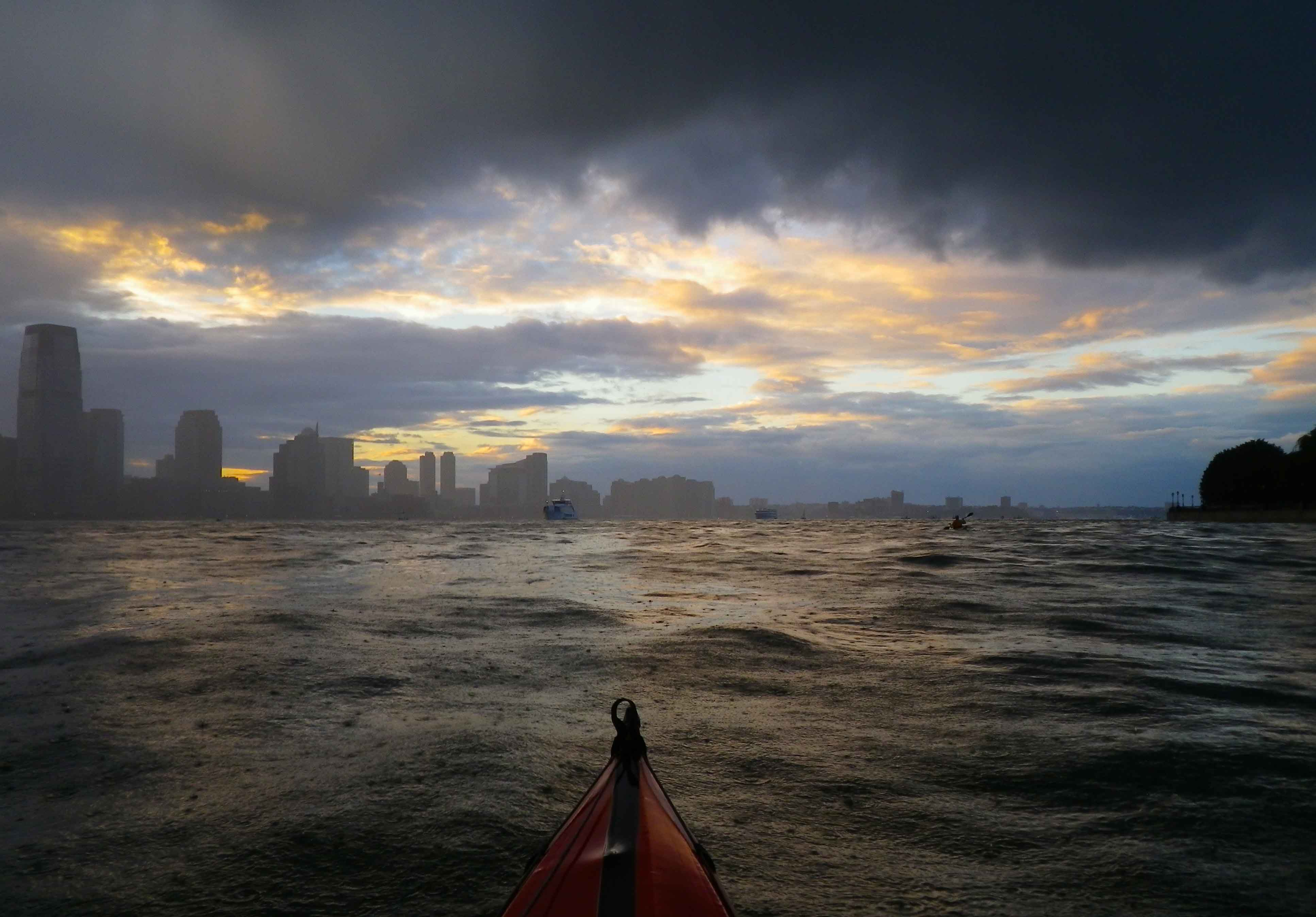 Apocalyptic Skies Over New York Harbor Wind Against Current