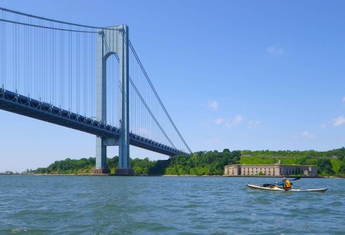 Verrazano-Narrows Bridge, from a kayak