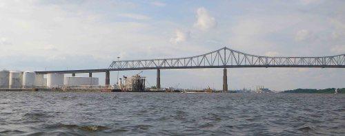 The Outerbridge Bridge, from a kayak