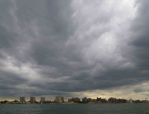 Dark clouds over Coney Island
