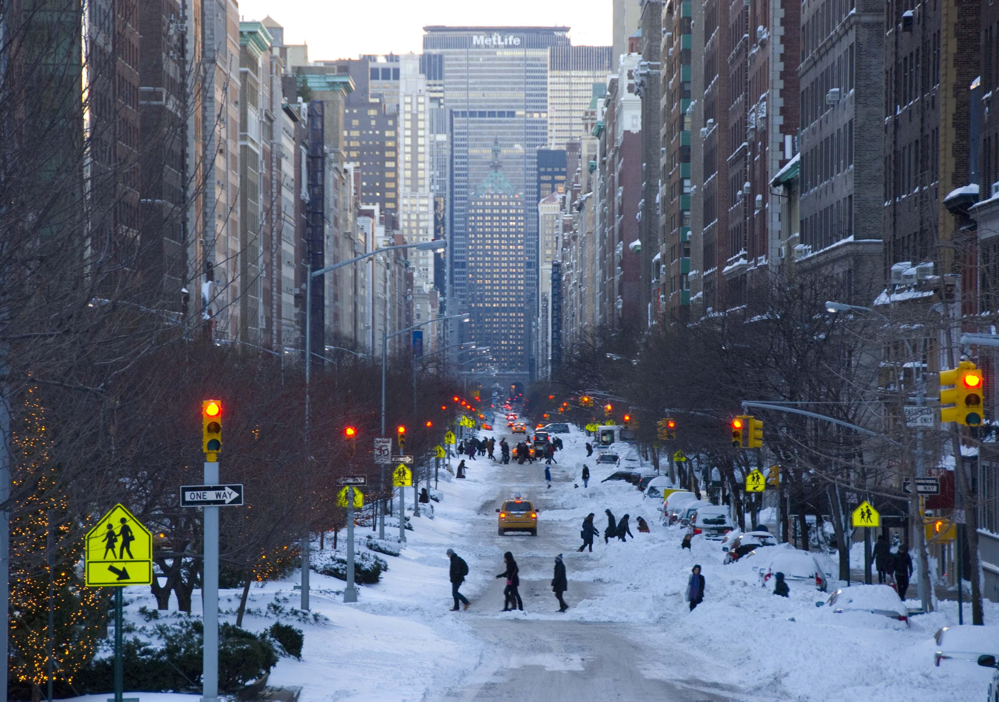 Snowy New York Food