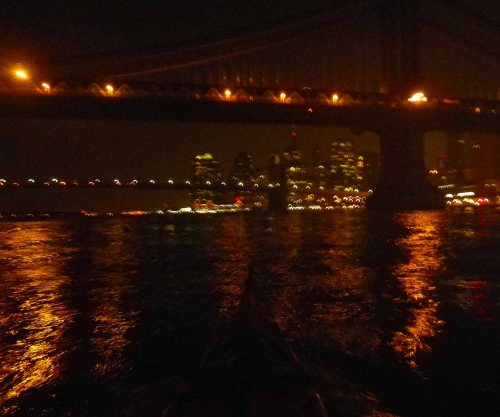 Paddling down the East River at 3 AM