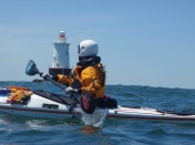 May: Johna's open-water kayak training in Rhode Island (photo by John Ozard)