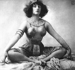 Colette, in costume