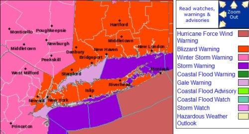 NWS forecast Feb 7, 2013
