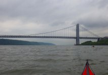 We approach the George Washington Bridge