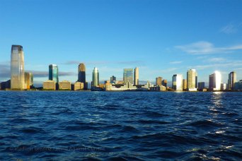 Across the Hudson, Jersey City catches the early light