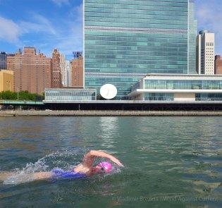Past the UN Building