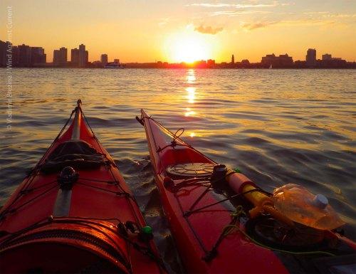 Hudson River sunset 1