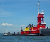 Colorful tugs...