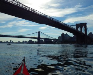Under the Brooklyn and Manhattan Bridges