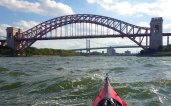 Under the Hell Gate bridges