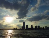Dramatic skies over Jersey City