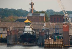 Tug in dry dock