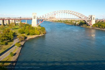 The Hell Gate railway bridge off to our side