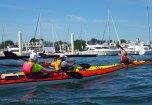 Past City Island's thousand sailboats