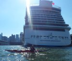 The Norwegian Breakaway is in port