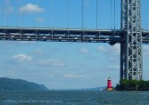 Under the George Washington Bridge, past the Little Red Lighthouse