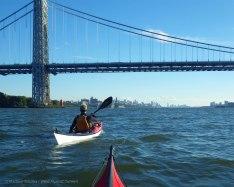 We pass under the George Washington Bridge again