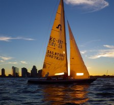 Sail in the sunset