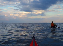 We paddle along the South Shore of Staten Island back toward the Verrazano-Narrows Bridge