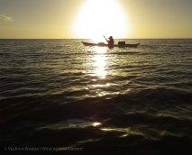 Calm evening seas