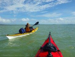 We paddle south