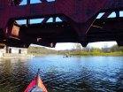 We paddle into Stockport Creek