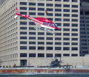 The heliport is busy today