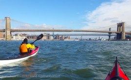 ... toward the East River bridges