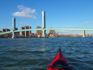 After crossing Hell Gate, we approach the Wards Island Bridge