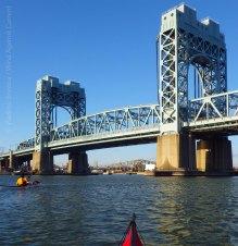 Afterward, we paddle on... under the Triborough (RFK) Bridge