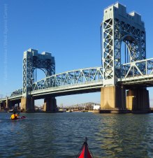 Afterward, we paddle on... under the Triborough (RFK) Bridge