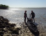 Happy meeting at Everglades City: Doi Nomazi pack their U-boat