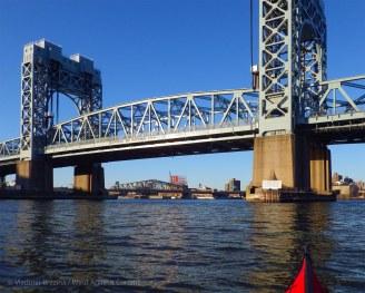 ... then we continue under the Triborough (now RFK) Bridge