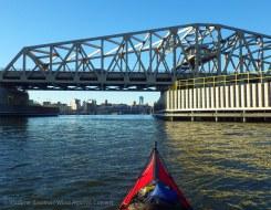 ... up the Harlem River