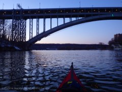Almost our of the Harlem! We pass under the Henry Hudson Bridge