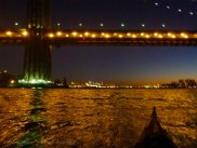 ... with the lights of Midtown Manhattan coming into view