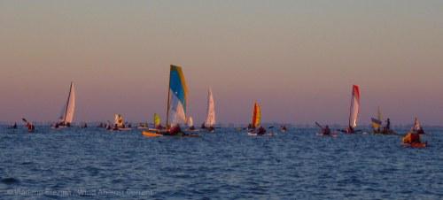 Colorful flotilla