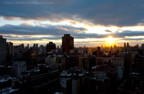 Manhattan vista at sunset