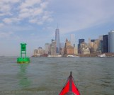 We pause at the green buoy just south of the Battery