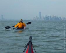 We paddle back toward Manhattan