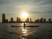 Declining sun across the Hudson
